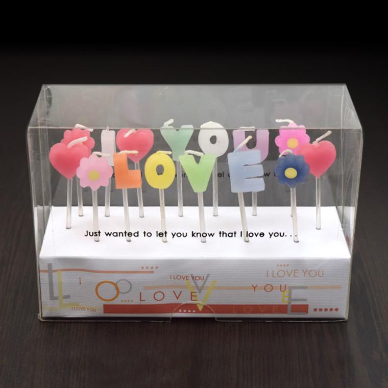"""I LOVE YOU"" 拼字蠟燭 (*此類產品必須購買本店食品方可一同選購,恕不獨立銷售。)"