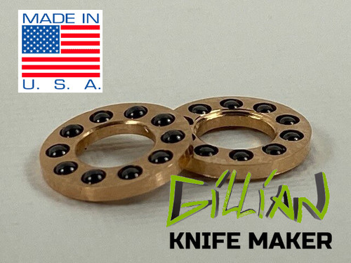 "Caged  Bearings 1/4"" pivot, 2mm Ceramic Balls"