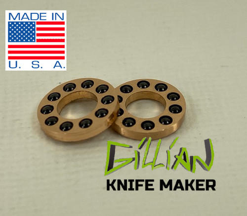 "3/16"" pivot caged bearings for knife making Inside Diameter .189"" fits any standard 3/16"" pivot barrel Outside Diameter .370 fits inside 3/8"" counterbore Bearings - 0.0625"" Si3N4 Ceramic Grade 5 balls x 10"