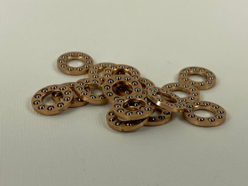 "1/4"" Pivot Caged Bearings, Phosphorous Bronze Retainer Cage, Gillian Made Bearings  2mm Stainless Bearings"