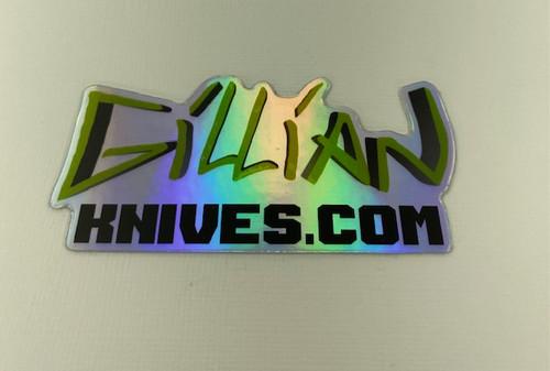 Gillian Knives Logo on Holographic Sticker