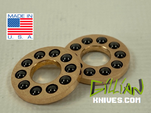5mm pivot, caged bearings made in the USA,