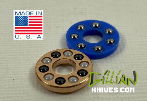 "Salt-N-Pepper Kershaw and Zero Tolerance KVT upgrades, with 3 additional ball bearings. Inside Diameter .194"" Outside Diameter .487"" Bearings (.093"")"
