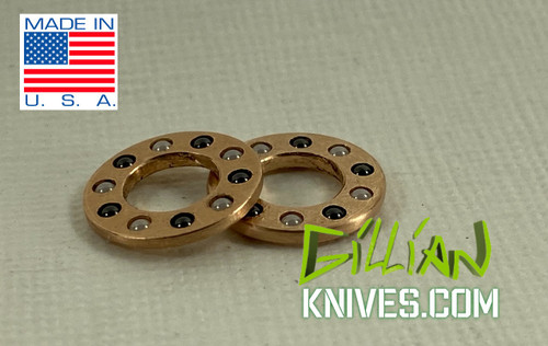 "6mm Caged Ceramic Bearings Inside Diameter - .239"" Outside Diameter - .463"" Bearings - .063"""