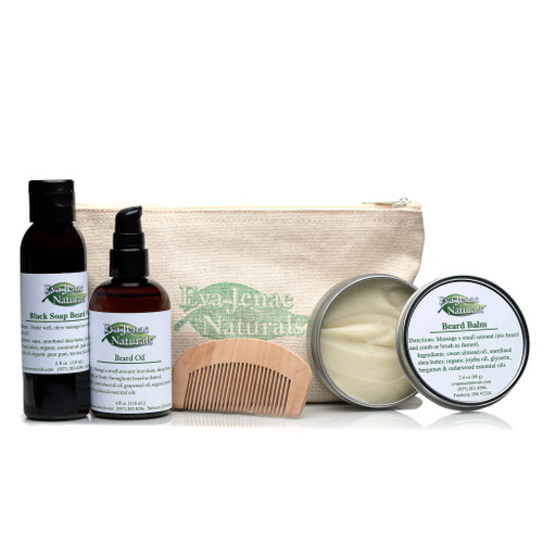 Our Beard Care Kit is essential in promoting a strong and healthy beard!  Made with all natural and vegan ingredients, it's formulated to cleanse, moisturize, and condition your beard and face.  These products are a simple way to keep your beard smelling good and looking fresh!