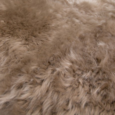 Brown Taupe Quad Sheepskin Rug