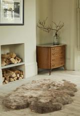 Brown Taupe Quad Sheepskin Rug