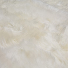 White Quad Sheepskin Rug (215 x 110 cm)