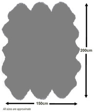 Oyster Sexto Sheepskin Rug (200x150cm)