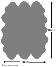 Slate Sexto Sheepskin Rug (200x150cm)