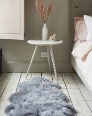 Silver Grey Single Sheepskin Rug
