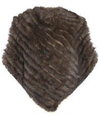 Chocolate Brown Coney Fur Poncho