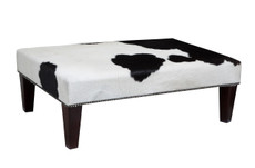 Cowhide Footstool / Ottoman 3ft x 2ft FST831