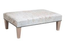3ft x 2ft Cowhide Footstool / Ottoman FST809