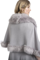 Faux Fur Wrap in Light Grey KFP23A-03S