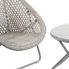 Foldable Rattan Garden Furniture Set