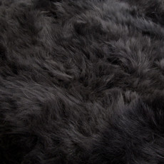 Dark Grey Double Sheepskin Rug