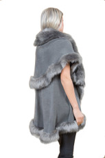 Faux Fur Wrap in Dark Grey KFP23A-D03