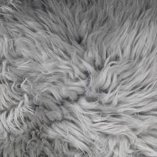 Silver Grey Quad Sheepskin Rug (195 x 115 cm)