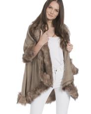 Faux Fur Wrap in Mocha KFP23A-09
