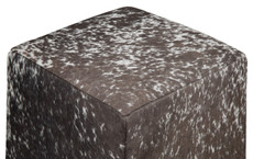 Beautiful Pale Brown and White Speckled Cowhide Cube