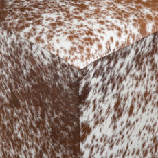 brown and white speckled hide