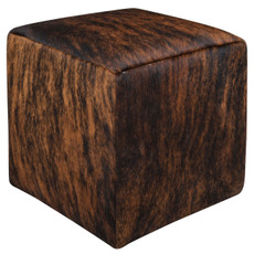 Dark Brown Brindle Cowhide Cube