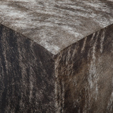 Grey Brindle Cowhide Cube