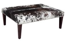 4ft x 3ft Cowhide Footstool / Ottoman FST062