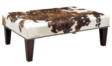 3ft x 2ft Cowhide Footstool / Ottoman FST065