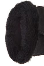 Black sheepskin gloves