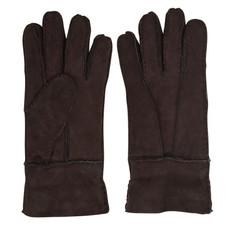 Women's Sheepskin Gloves in Chocolate Brown
