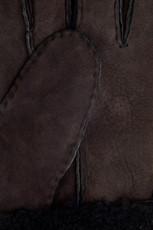 Chocolate sheepskin gloves