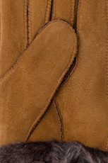 Womens Sheepskin Gloves in Tan