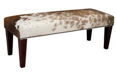 4ft x 1.5ft Cowhide Footstool / Ottoman FST613