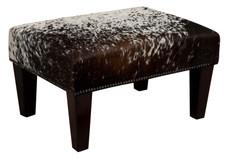 2ft x 1.5ft Cowhide Footstool / Ottoman FST600