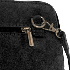 Suede Sholder Bag in Black PB001