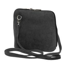 Suede Sholder Bag in Grey