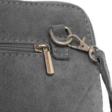 Suede Sholder Bag in Light Grey PB003S