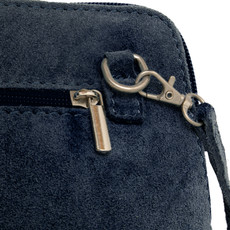 Suede Sholder Bag in Navy PB007