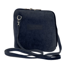 Suede Sholder Bag in Navy