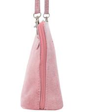 Suede Sholder Bag in Pink