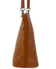 Suede Sholder Bag in Mustard
