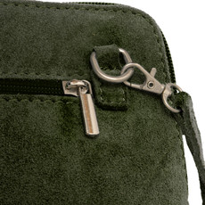 Suede Sholder Bag in Khaki PB011