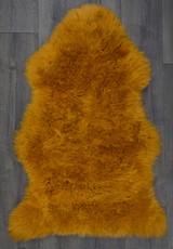 Mustard Single Sheepskin Rug