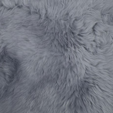 Silver Grey Double Sheepskin Rug