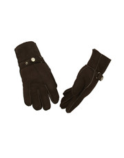 Men's Sheepskin Gloves in Chocolate