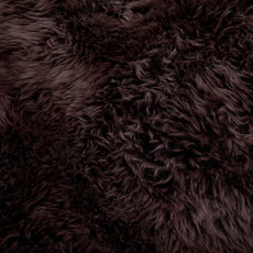 Chocolate Deluxe Quad Sheepskin Rug (195cm x 115cm)