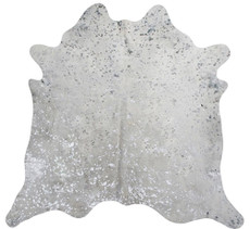 Silver Metallic Cowhide Rug