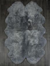 Silver Grey Quad Sheepskin Rug (195cm x 115cm)